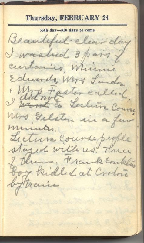 Roberta Hopkins' Diary 1927 (p. 61)