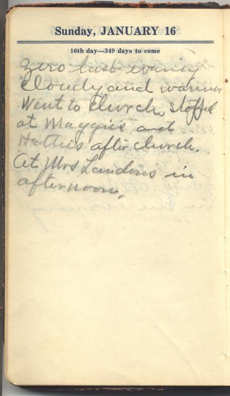 Roberta Hopkins' Diary 1927 (p. 22)