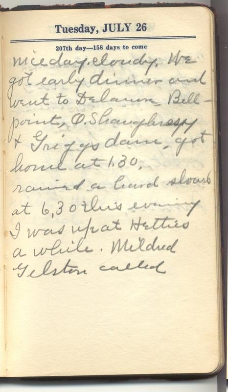 Roberta Hopkins' Diary 1927 (p. 213)