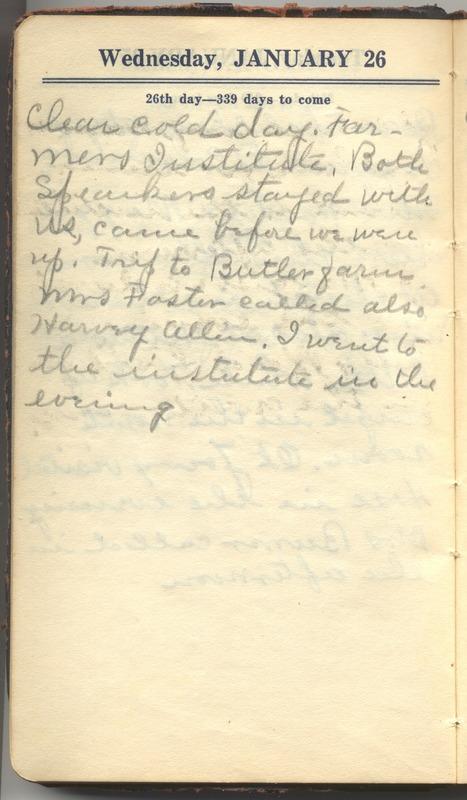 Roberta Hopkins' Diary 1927 (p. 32)