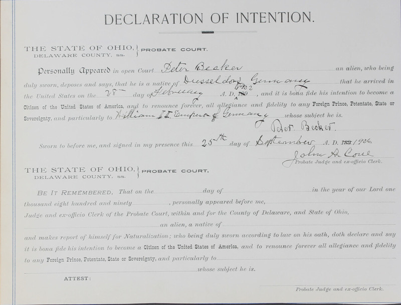 Naturalization Records Delaware County OH (p. 139)