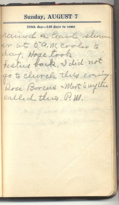 Roberta Hopkins' Diary 1927 (p. 225)