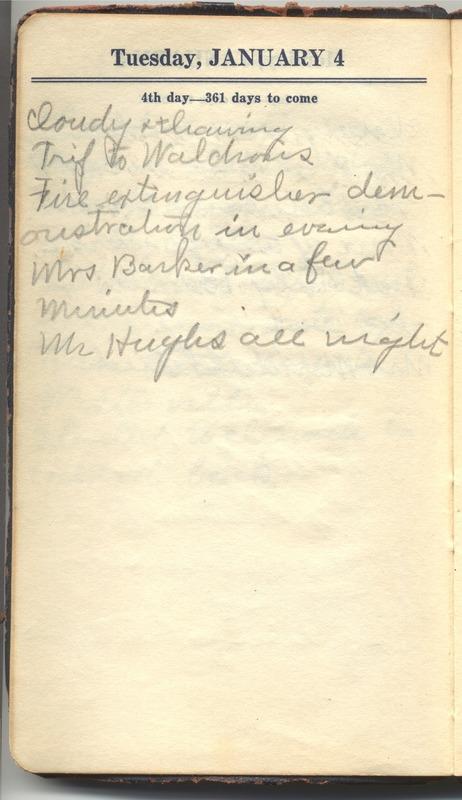Roberta Hopkins' Diary 1927 (p. 10)