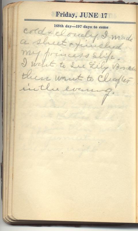 Roberta Hopkins' Diary 1927 (p. 174)