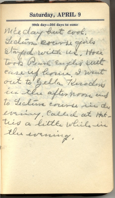 Roberta Hopkins' Diary 1927 (p. 105)