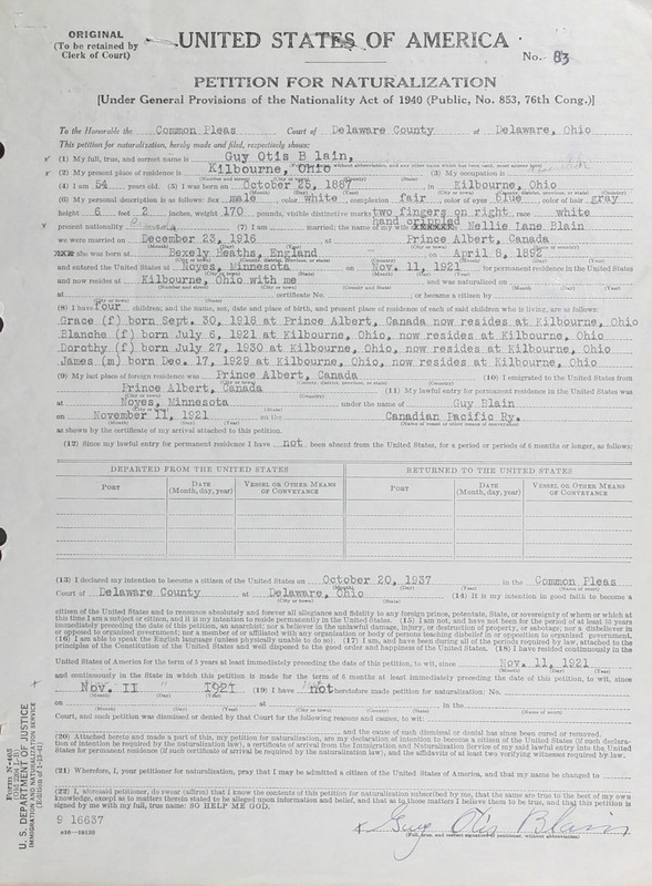 Naturalization Records Delaware County OH (p. 203)