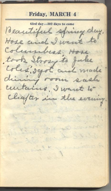Roberta Hopkins' Diary 1927 (p. 69)