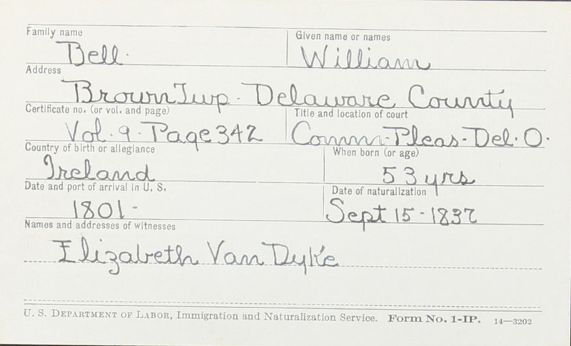 Naturalization Records Delaware County OH (p. 157)