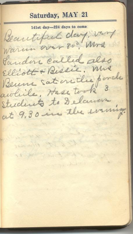 Roberta Hopkins' Diary 1927 (p. 147)