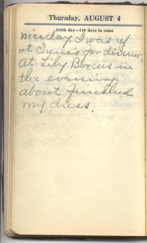 Roberta Hopkins' Diary 1927 (p. 222)