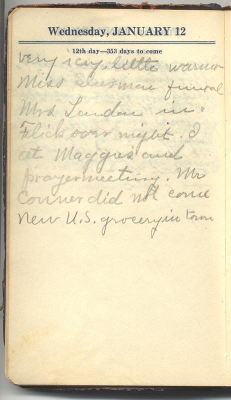 Roberta Hopkins' Diary 1927 (p. 18)