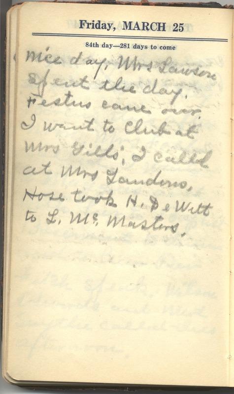 Roberta Hopkins' Diary 1927 (p. 90)