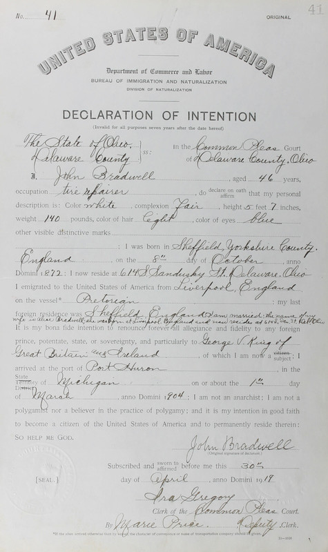 Naturalization Records Delaware County OH (p. 224)
