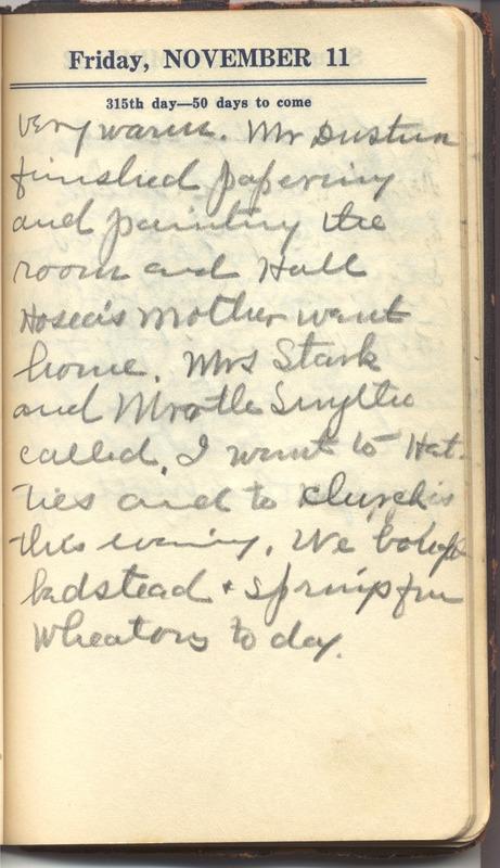 Roberta Hopkins' Diary 1927 (p. 321)