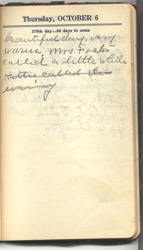 Roberta Hopkins' Diary 1927 (p. 285)