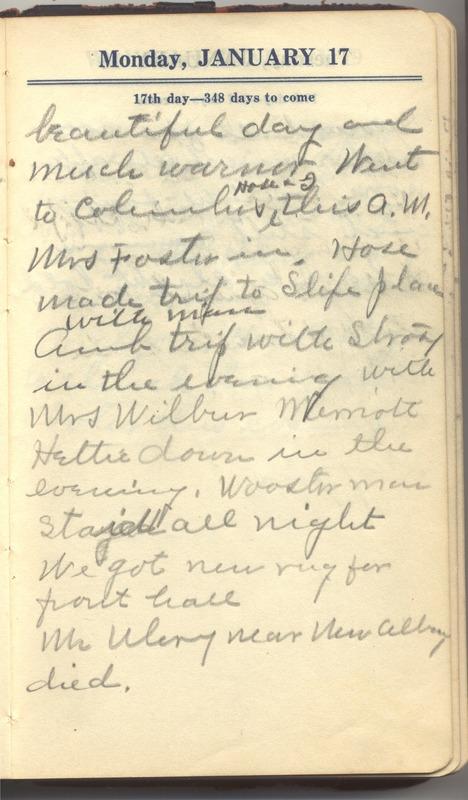 Roberta Hopkins' Diary 1927 (p. 23)