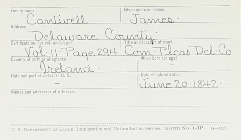 Naturalization Records Delaware County OH (p. 322)