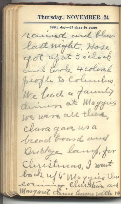 Roberta Hopkins' Diary 1927 (p. 334)