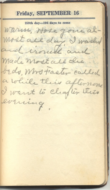 Roberta Hopkins' Diary 1927 (p. 265)