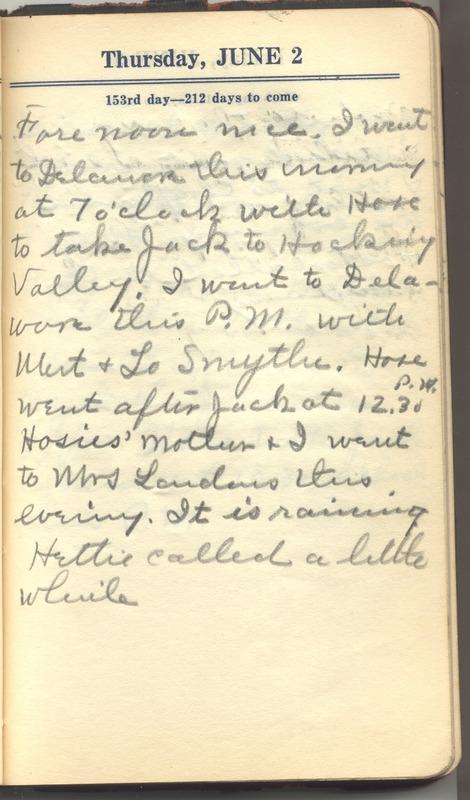 Roberta Hopkins' Diary 1927 (p. 159)
