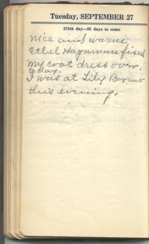 Roberta Hopkins' Diary 1927 (p. 276)