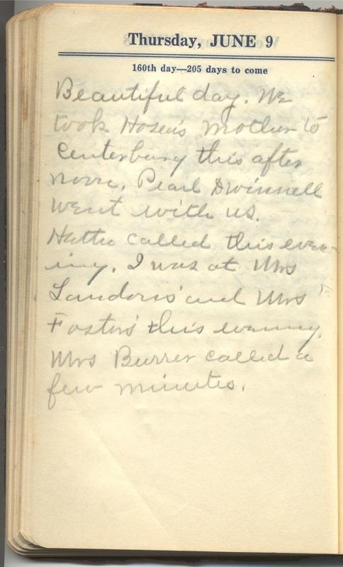 Roberta Hopkins' Diary 1927 (p. 166)