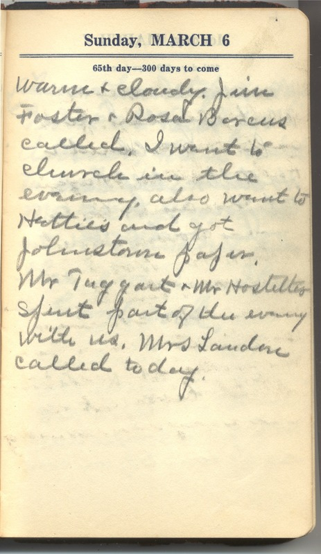 Roberta Hopkins' Diary 1927 (p. 71)