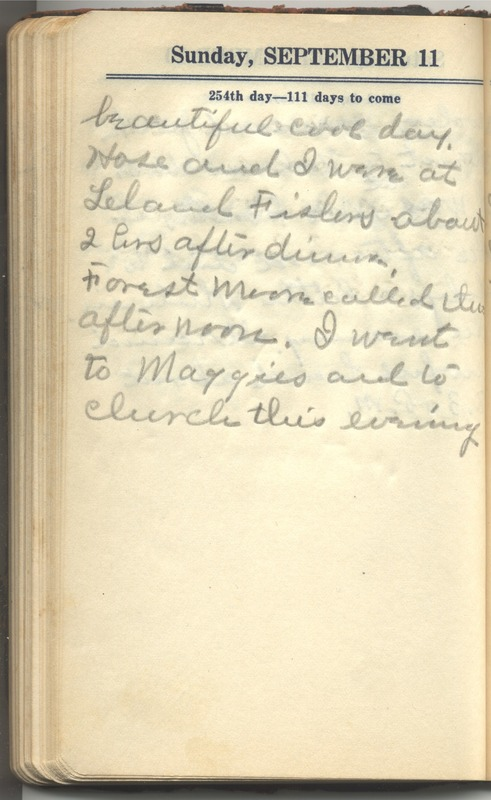 Roberta Hopkins' Diary 1927 (p. 260)
