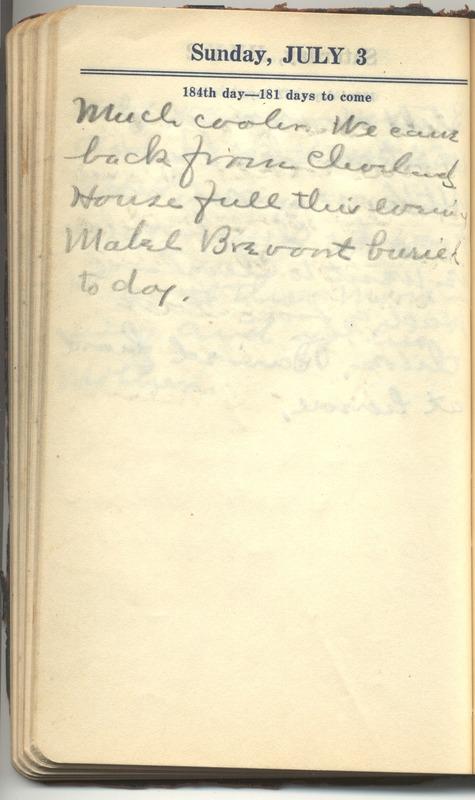 Roberta Hopkins' Diary 1927 (p. 190)