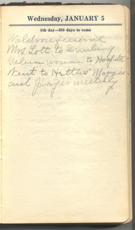 Roberta Hopkins' Diary 1927 (p. 11)