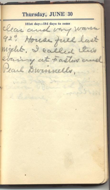 Roberta Hopkins' Diary 1927 (p. 187)