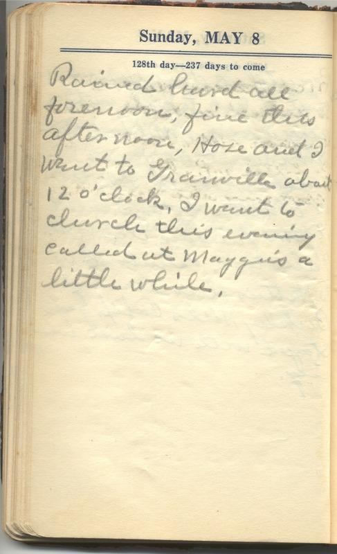 Roberta Hopkins' Diary 1927 (p. 134)