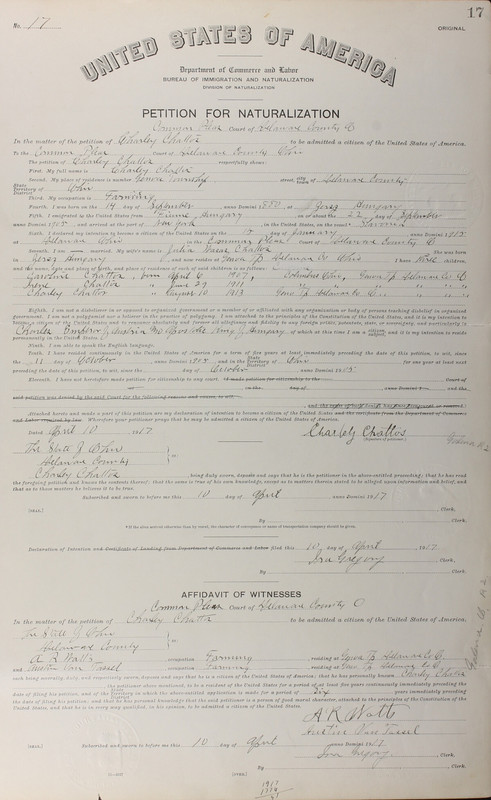 Naturalization Records Delaware County OH (p. 359)