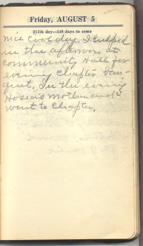 Roberta Hopkins' Diary 1927 (p. 223)
