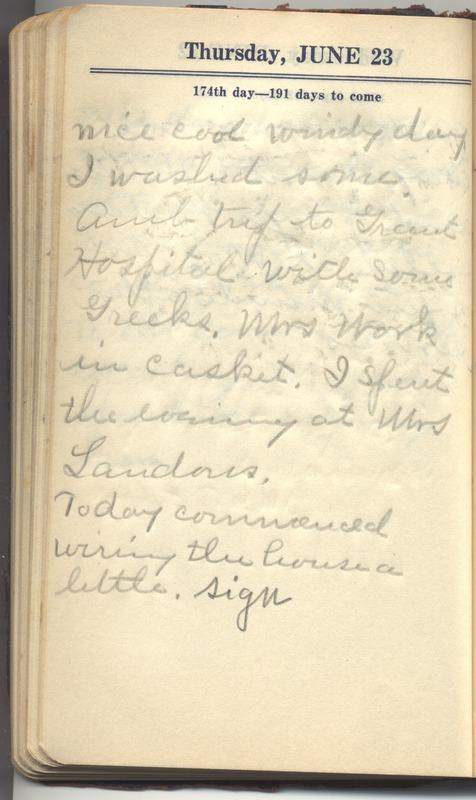 Roberta Hopkins' Diary 1927 (p. 180)