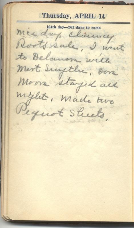 Roberta Hopkins' Diary 1927 (p. 110)