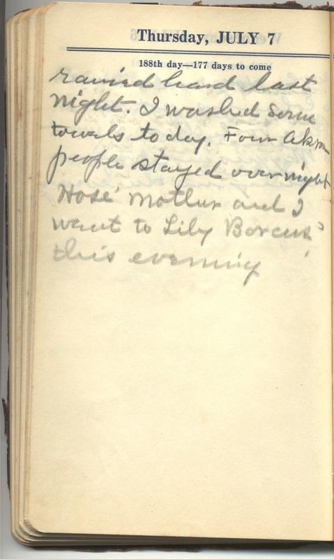 Roberta Hopkins' Diary 1927 (p. 194)
