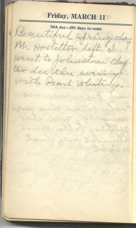 Roberta Hopkins' Diary 1927 (p. 76)