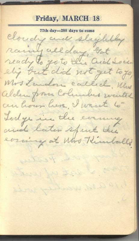 Roberta Hopkins' Diary 1927 (p. 83)