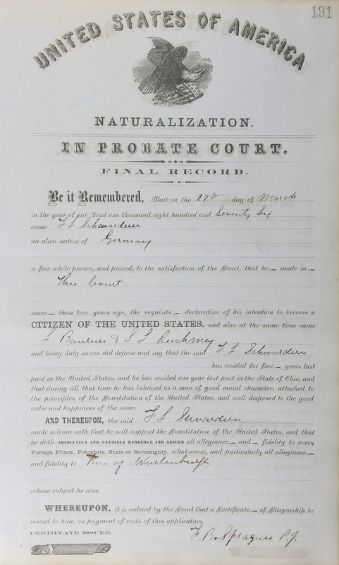 Naturalization Records Delaware County OH (p. 171)