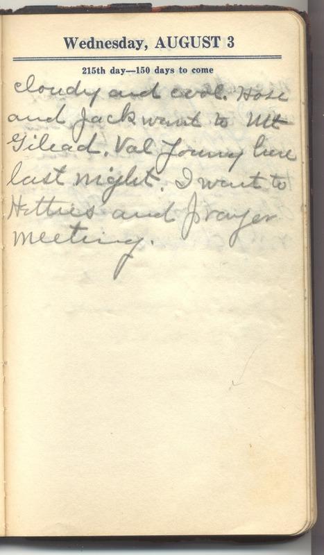Roberta Hopkins' Diary 1927 (p. 221)