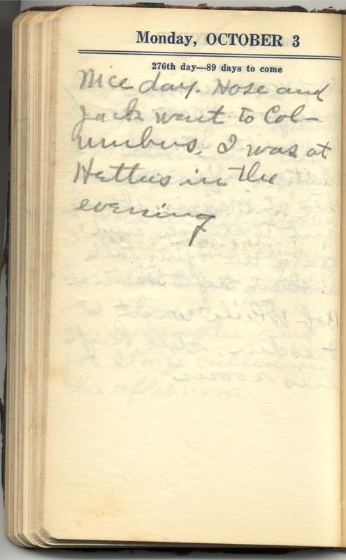 Roberta Hopkins' Diary 1927 (p. 282)