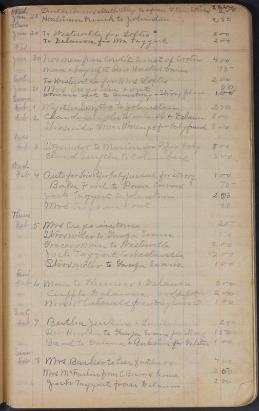 Hopkins House Day Book 1920-1925 (p.7)