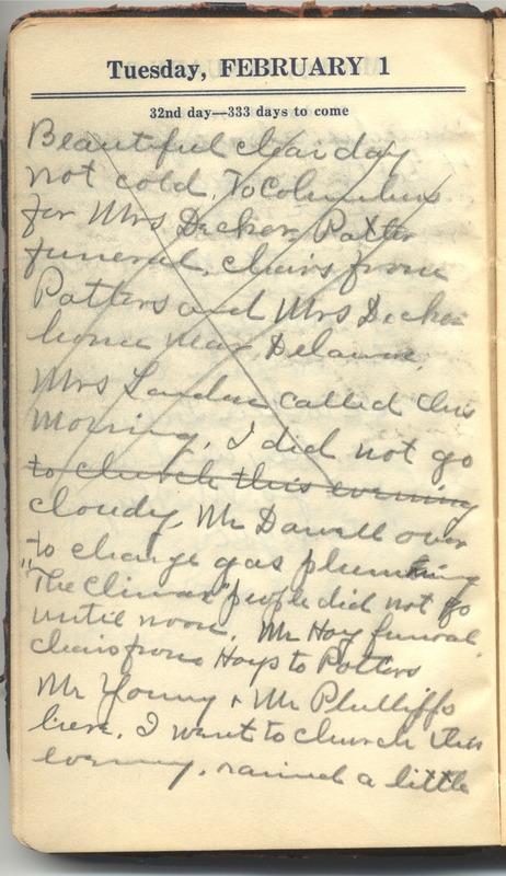 Roberta Hopkins' Diary 1927 (p. 38)