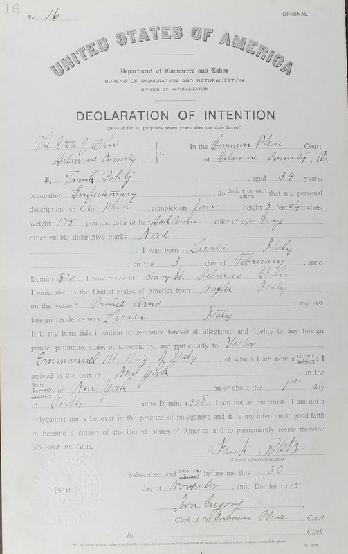 Naturalization Records Delaware County OH (p. 364)