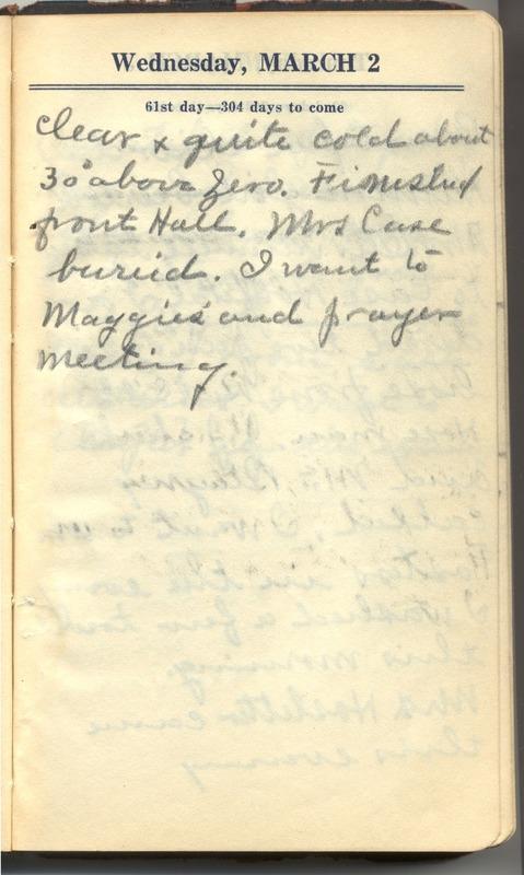 Roberta Hopkins' Diary 1927 (p. 67)