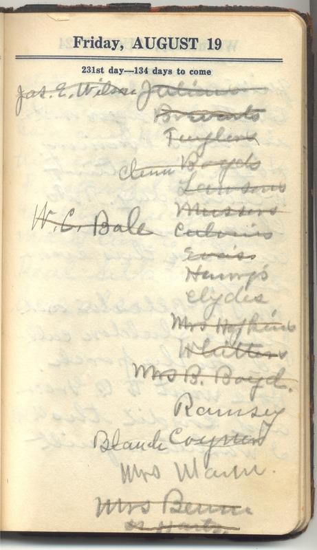Roberta Hopkins' Diary 1927 (p. 241)