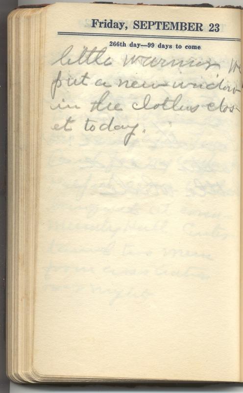 Roberta Hopkins' Diary 1927 (p. 272)