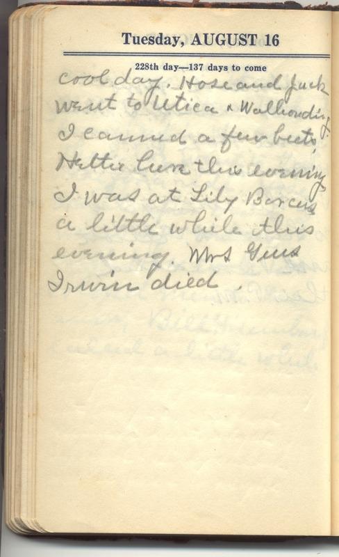 Roberta Hopkins' Diary 1927 (p. 234)