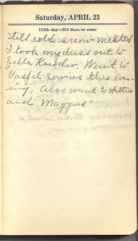 Roberta Hopkins' Diary 1927 (p. 119)